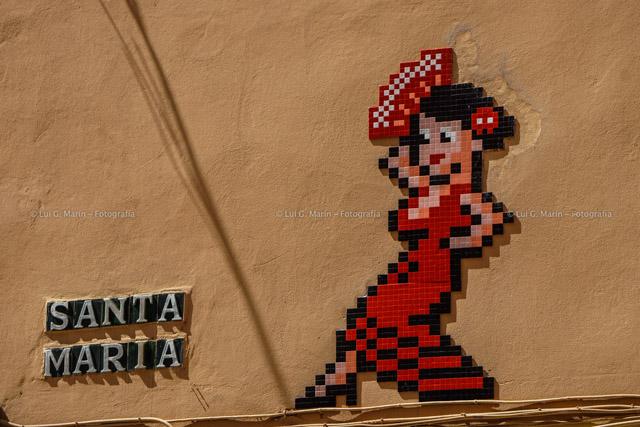 Invader en Málaga