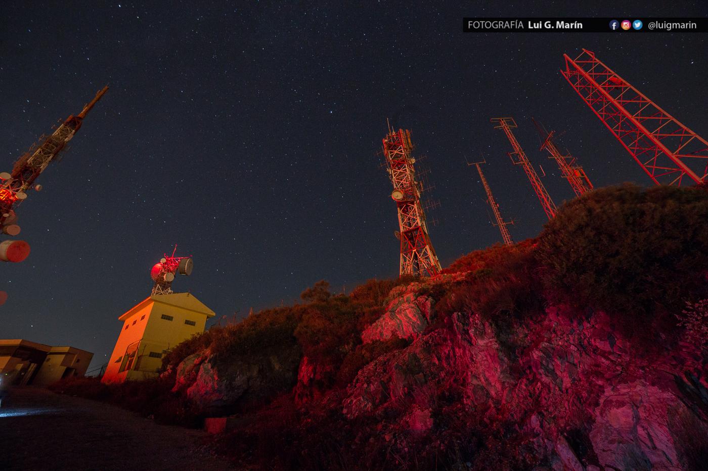 Fotografía nocturna desde el repetidor de Mijas