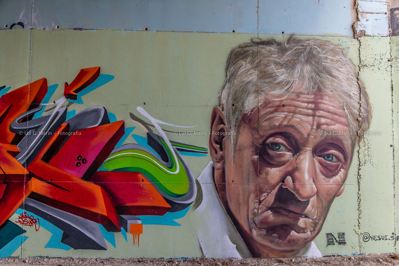 Nuevos graffitis en Benalmádena. Tributo a Enrique San Francisco