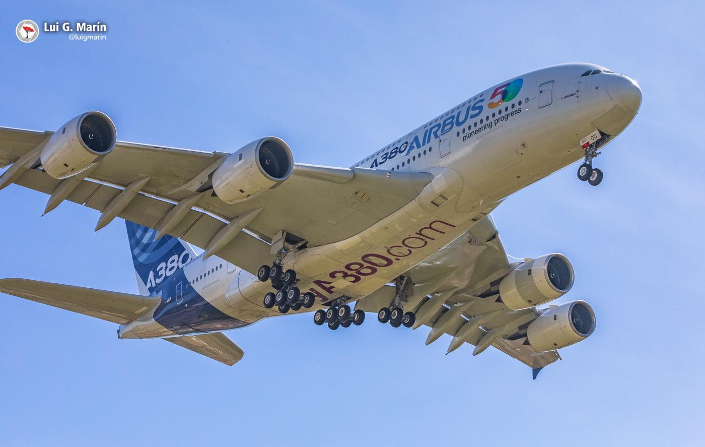 Airbus A380 en Málaga